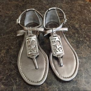 Sz 11 COACH Odele sandals in pewter